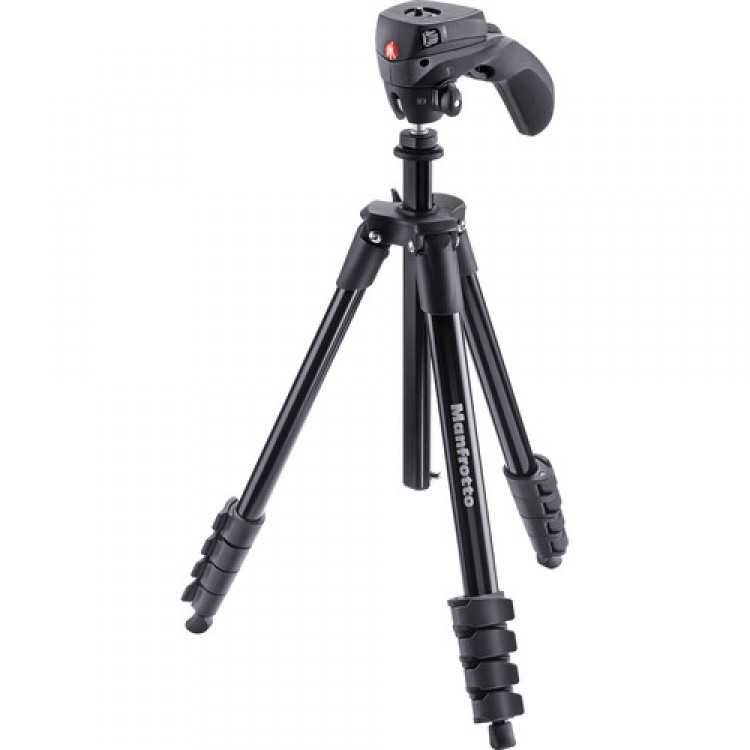 MANFROTTO MK COMPACT ACTION BLACK TRIPOD