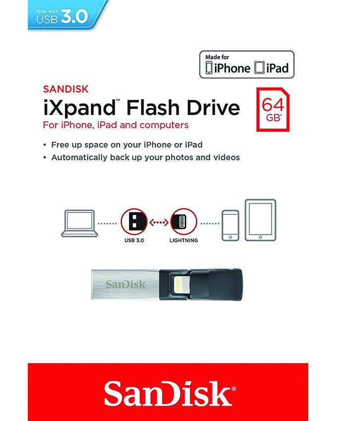 SANDISK IXPAND 64GB 3.0 MINI FLASH DRIVE